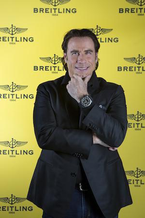 John travolta hosts spectacular uae launch of new breitling emergency performance communications for John travolta breitling
