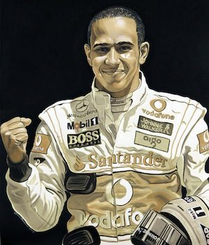 Mobil 1 – Lewis Hamilton Oil Painting