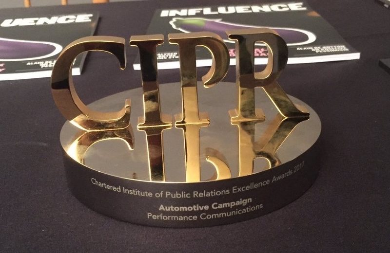 Performance Communications wins Automotive campaign of the year at CIPR Excellence Awards